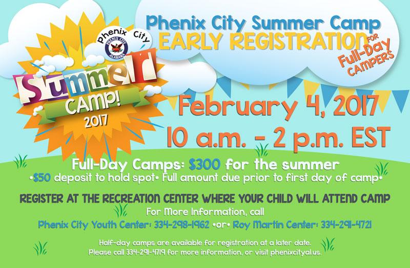 2017 summer camp registration   phenix city, alabama